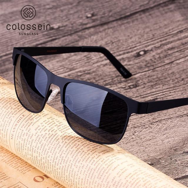a0b879bbb3 COLOSSEIN Sunglasses Men Classic Polarized Retro Driving Fashion Style Metal  Frame Sun Glasses For Women Popular Eyewear UV400