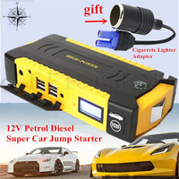 Top Quality Car Jump Starter 16000mAh Portable Lighter Starting Device 4USB Power Bank 12V 600A Charger