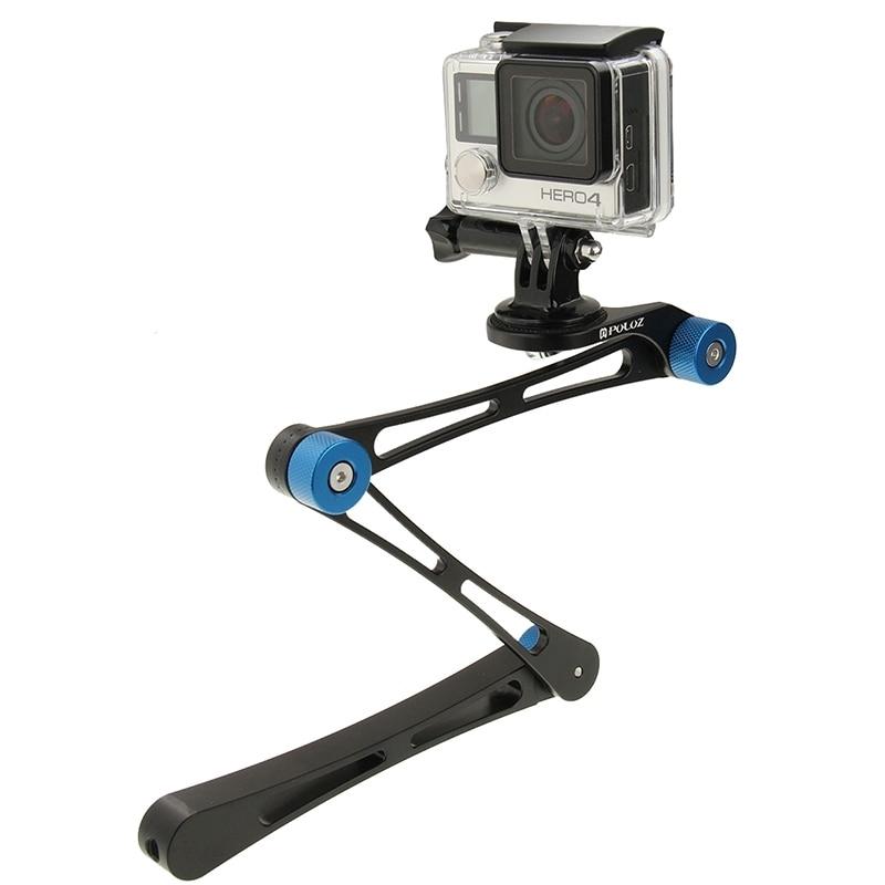 Aleación de Aluminio Plegable Palo Para Selfie brazo de extensión para cámaras GoPro héroe