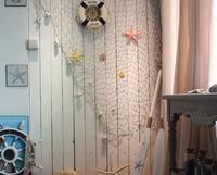Op Quality 100X200CM Home The Mediterranean Sea Style Wall Stickers Big Fishing Net Decoration Home Decoration