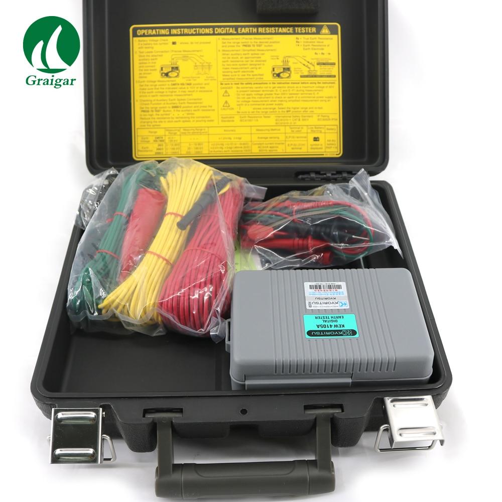 KYORITSU Digital Earth Resistance Tester 4105A Multimeter With Hard Case Kyoritsu 4105A kyoritsu 1030 compact pen digital multimeter dmm