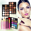2016 New 15 Color Eye Shadow Powder 7 Color Cute Pink Handle Makeup Brushes Eyeshadows Eyeshadow Palette Cosmetics Shadows #BSEL