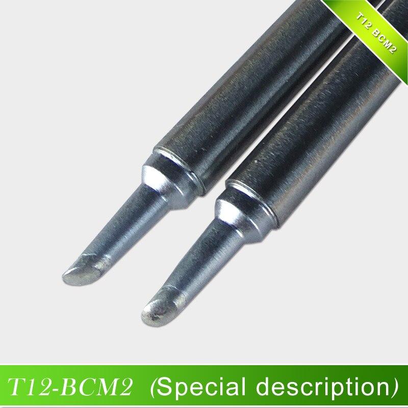QUICKO Hohe Qualität T12-BCM2 Lötkolben Spitze Kegel mit gedankenstrich/hufeisen förmigen BCM2 spitze mit nut/form 2BCM