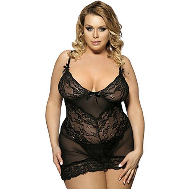 13611bbe26b0fc Été grande taille Sexy femmes sommeil salon 5 couleur dentelle bretelles  Lingerie respirant chemises de nuit