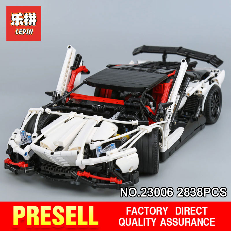 Lepin 23006 2838Pcs Genuine MOC Technic Series The Hatchback Type R Set Building Blocks Bricks Educational Toys Boy Gifts Model lepin 20054 4237pcs the moc technic series the remote control t1 classic volkswagen camper set 10220 building blocks bricks toys