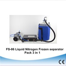 FS-06 liquid nitrogen frozen Separator 3 in 1 pack with oil-free pump with 10L liquid nitrogen tank 220V for 9 inch(China)