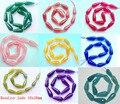 Длинные граненый смешанный Цвет Jad e бисера 10x28 мм Гранёные с одной и плоские с другой стороны, Каплевидная форма полу камень ювелирные изделия Beads16 \