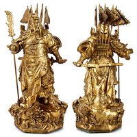 Brilliant light Fortuna Wu Guan Gong ornaments of copper Buddha wealth fortune business gifts home living room
