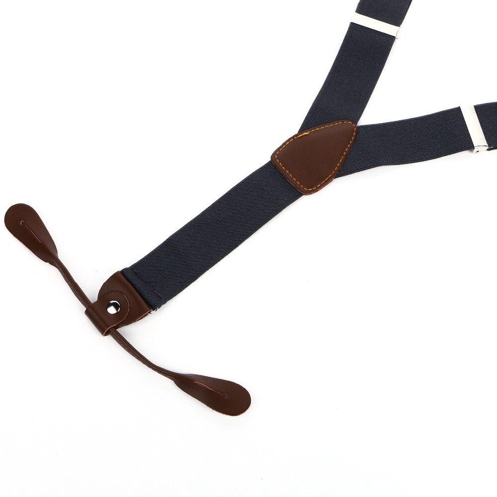 Однотонные простые подтяжки мужские женские подтяжки Регулируемый искусственная кожа взрослый ремень серые подтяжки BD708