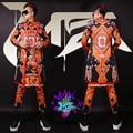 S-4XL ! 2016 Men fashion new slim Club  singer DJ right GD runway geometric abstraction graffiti long suit costumes formal dress