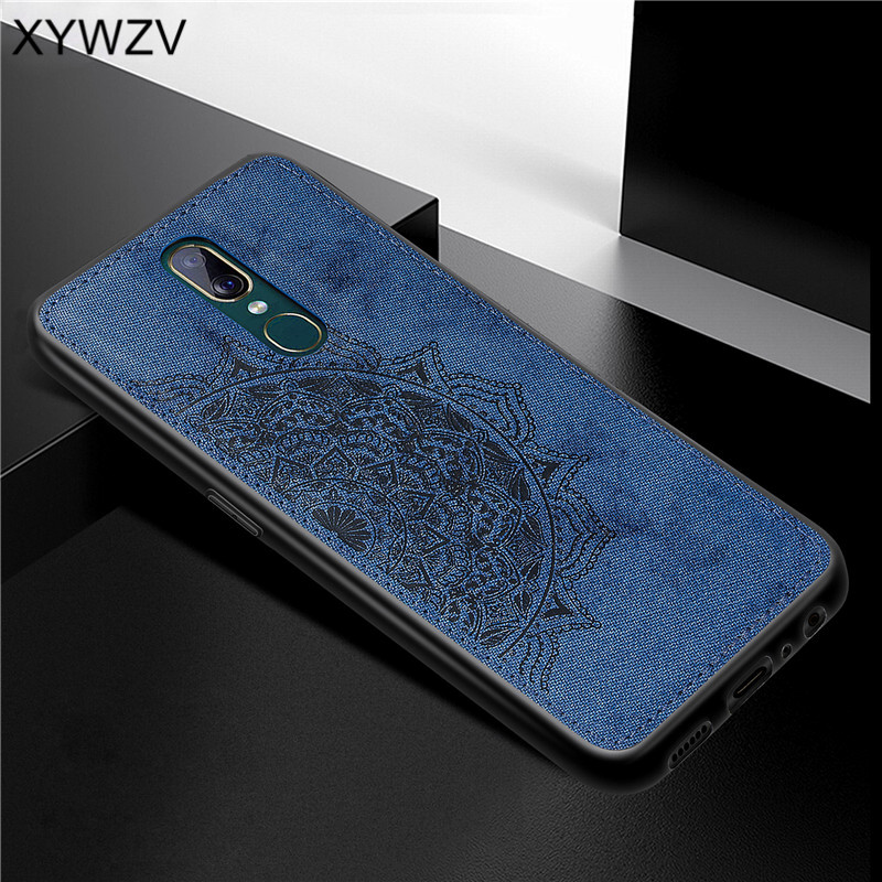 Image 3 - For OPPO A9 Case Shockproof Cover Soft Rubber Silicone Luxury Cloth Texture Phone Case For OPPO A9 Back Cover For OPPO A9 Fundas-in Fitted Cases from Cellphones & Telecommunications