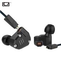 KZ ZS6 New 2DD 2BA 8 Drivers Hybrid In Ear Earphone With Mic Metal HiFi Headphone