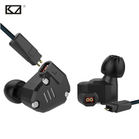 KZ ZS6 New 2DD 2BA 8 Drivers Hybrid In Ear Earphone With Mic Metal HiFi Headphone
