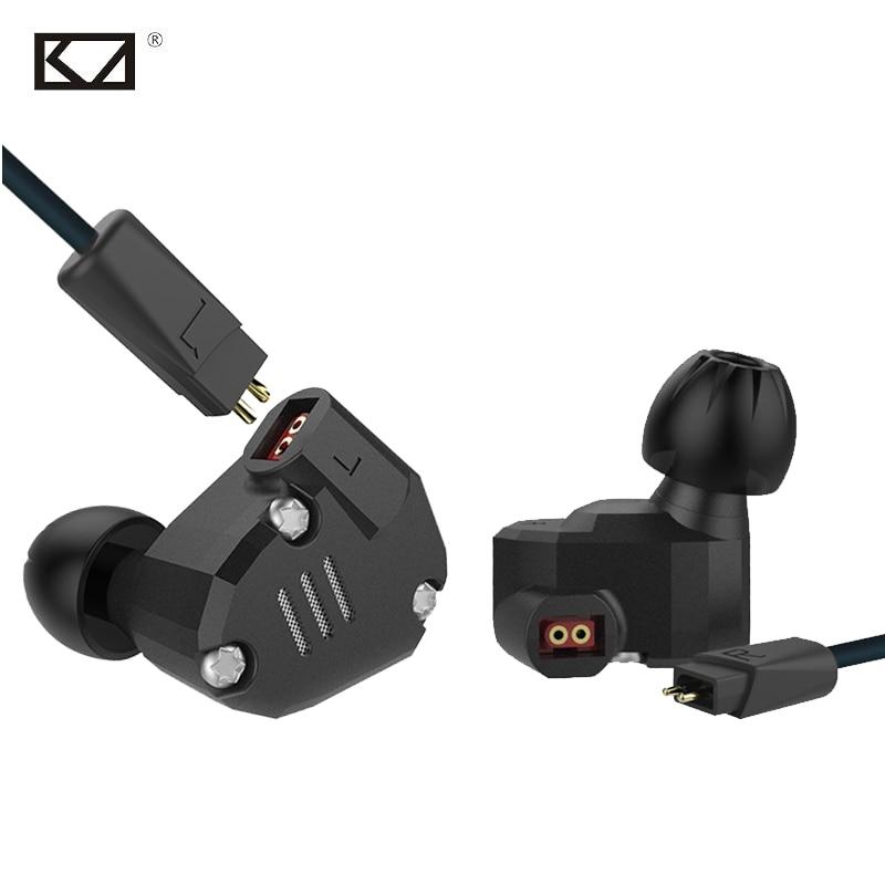 KZ ZS6 New 2DD 2BA 8 Drivers Hybrid In Ear Earphone with Mic Metal HiFi Headphone DJ Monitor Music Running Sport Earplug Headset