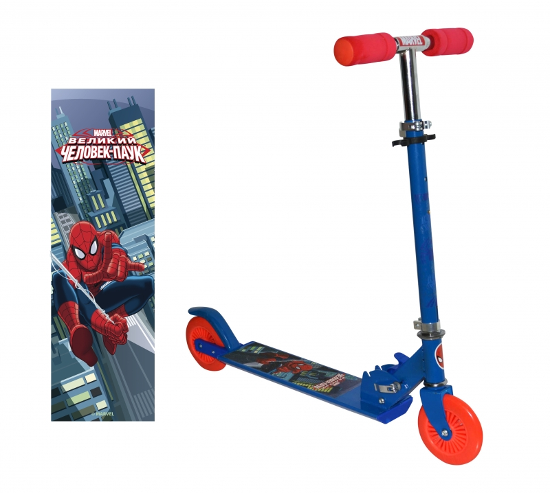 Toy Sports Scooter 1Toy Man Spider kids T58410 kidstravel 1toy самокат spider man