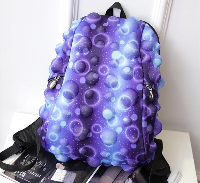 Women Polyester Floral Backpack Stylish Star Universe Space Backpack Girls School Backbag Mochila Feminina