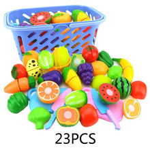 New Pretend Play Plastic Food Toy Cutting Fruit Vegetable Food Pretend Play Kitchen Food Toy Children for Children Birthday Gift цена