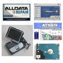 Сенсорный экран CF-19 I5 4GB ноутбук Авто Ремонт Alldata программное обеспечение V10.53+ Mit on. d. emand5+ ATSG в 1 ТБ HDD установлен