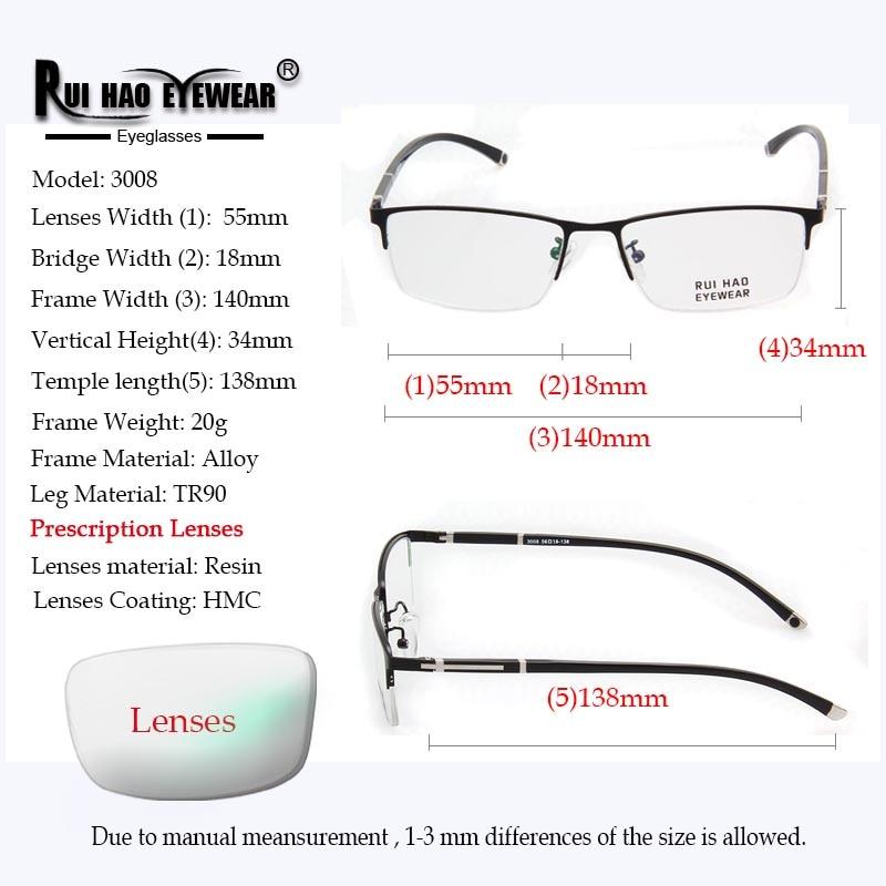 Image 2 - Customize Prescription Glasses Progressive Spectacles Single Vision Glasses CR39 Resin Lenses Fashion Optical Eyeglasses-in Men's Prescription Glasses from Apparel Accessories
