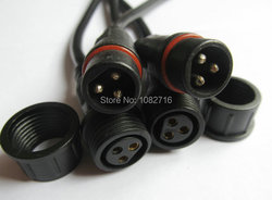 New 10 sets 3 pins black male and female led connector wire waterproof plug cord cable.jpg 250x250