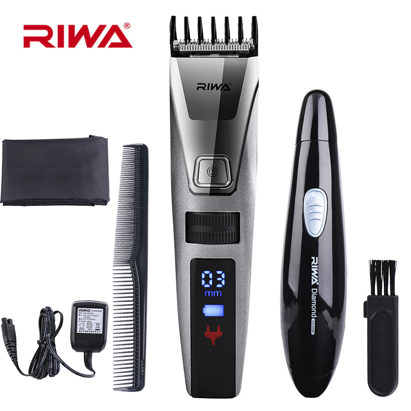 100-240V K3 Cordless LCD Digital Display Men's Hair Trimmer Clippers Fast Rechargeable Haircut Cutting Machine Hairdressing Comb biaoya rechargeable hair clippers set 220 240v ac