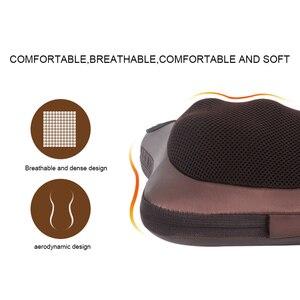 Image 4 - Boyun masajı araba ev servikal Shiatsu ısıtma masaj boyun geri bel vücut elektrikli çok fonksiyonlu masaj yastığı yastık