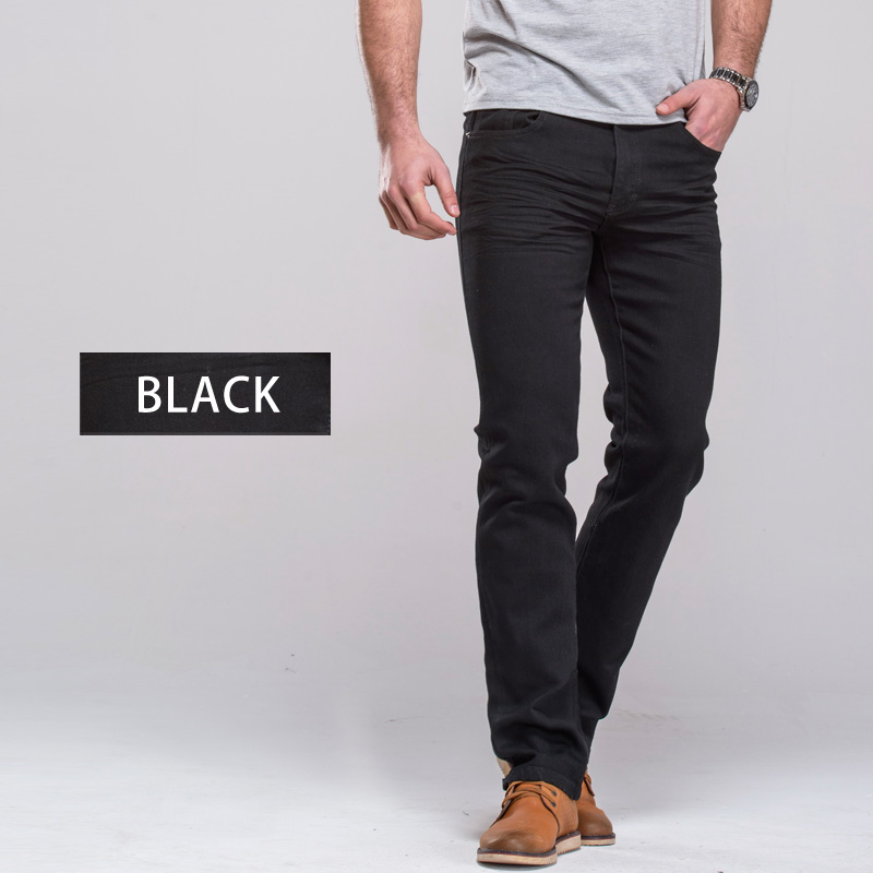 GRG Men's Jeans Classic Straight Fit Stretch Denim Jeans Casual Blue Black Trousers Stretch Long Pants