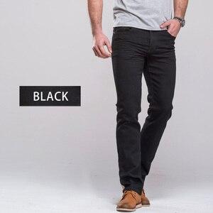 Image 4 - Grgメンズジーンズクラシックストレートフィットストレッチデニムジーンズカジュアルブルー黒ズボンストレッチロングパンツ