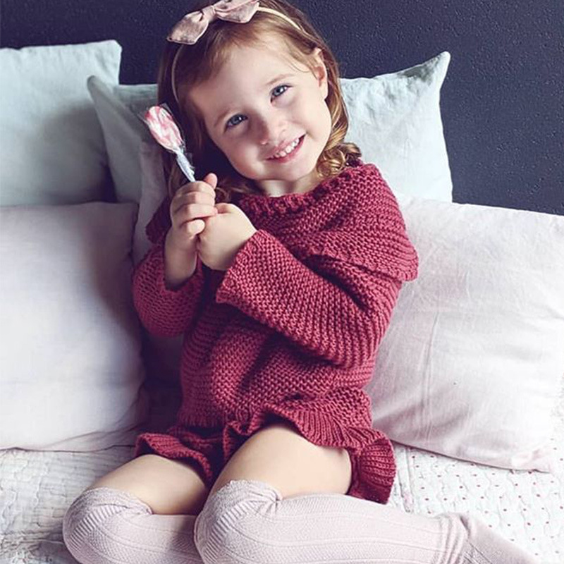 Baby girls clothing set kids wool knit vest pants suit infant clothes set toddler Outfit baby sets Children sweater+shorts sets