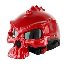 Мотоцикл персонализированные Череп мотоциклетный шлем Capacetes Половина Лица Ретро Casque Masei 489