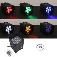 6X18 W RGBWY + UV Led Pil Kablosuz DMX & IRC Uzaktan Par 2.4G Kablosuz DMX Alıcı Inşa ışık Led Yukarı Aydınlatma Ve kızılötesi