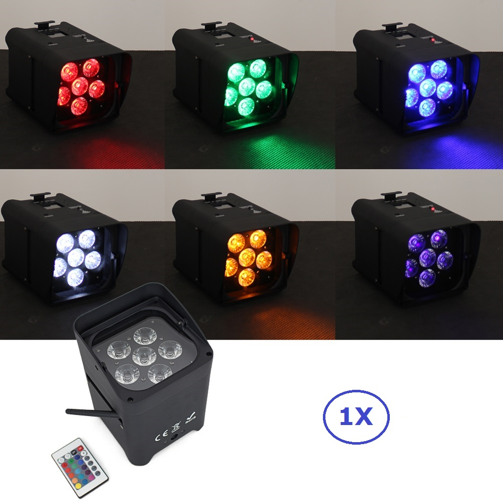 6X18W RGBWY+UV Led Battery Wireless DMX & IRC Remote Par Light Led Uplighting Built In 2.4G Wireless DMX Receiver And Infrared freeshipping irc 9x18w rgbwa uv 6in1 battery wireless led par light 165w full color display screen infrared wireless controller