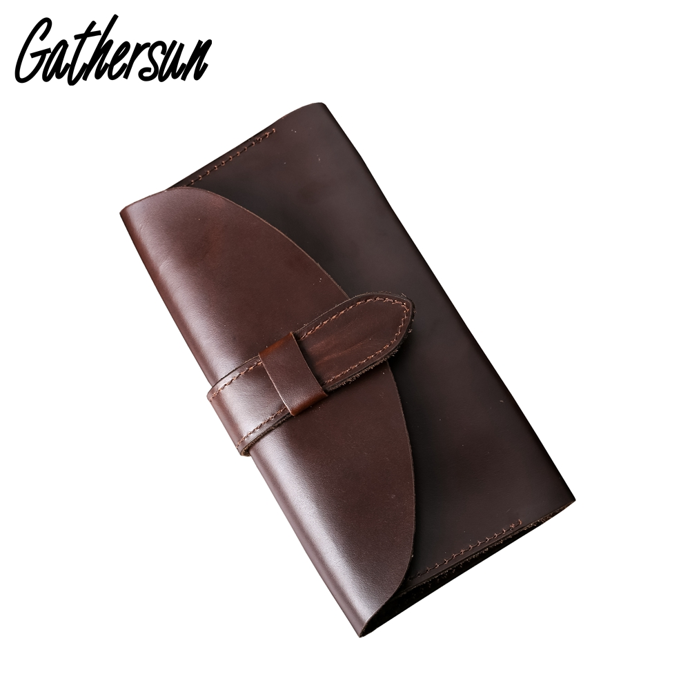 2017 Limited Genuine Leather Vintage Real Leather Wallet Ladies Long Purse Handmade Card Holder Unisex Clutch Bag Retro Style