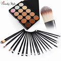 15 Colors Contour Face Cream Makeup Cosmetic Concealer Palette Make Up Kits + 20pcs Powder Foundation Eye Make-up Brushes Sets