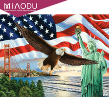 ФОТО miaodu 5d diy american eagle national flag diamond painting full square daimond paintings diamant embroidery home decoration