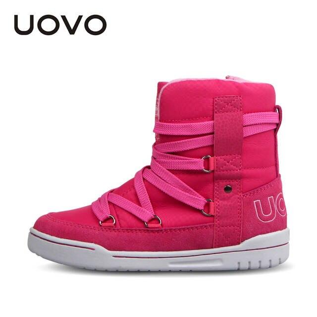 7ed5a3a238b Бренд uovo 2019 детская зимняя обувь модная детская повседневная спортивная  обувь для мальчиков и девочек высокие