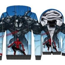 2018 Winter Thick Mens Fashion Jacket 3D Superhero The Avengers Anime Sweatshirts Hoodies Hip Hop Outwear Tracksuit Casual Coat