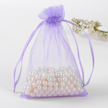 bolsas de regalo 35x50cm Light Purple Organza Gift Bag For Shoes Wedding Favors And Gifts Packaging Can Custom Logo