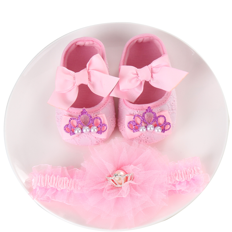 Party Christening Baptism Set Booties Rhinestone Girl Baby Shoes First Walker,Baby Moccasins,Kids Shoes For Baby Photo Props