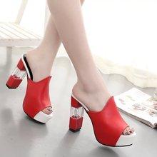 купить 2019 Fashion Women Mules Slippers Open Toe Spike Heel Flip Flops Bow Tie High Heels Slides Ladies Summer Shoes Big Size 34-42 по цене 1754.18 рублей