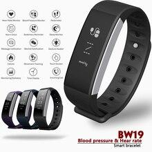 Betreasure BW19 Pulseira Inteligente Pressão Arterial/Banda de Fitness Monitor de Freqüência Cardíaca Inteligente Bracelete Bluetooth Inteligente Para Android IOS