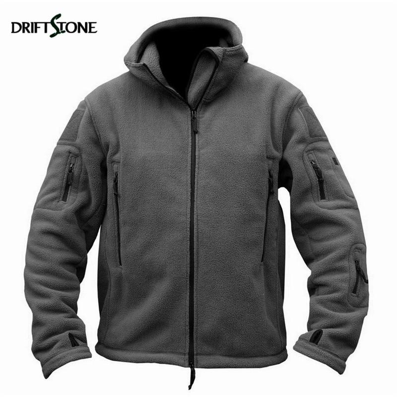 Tactical Fleece Jacket Men US Military Jackets Man Polartec Thermal Breathable Polar Hooded Coat Outerwear Military Clothing
