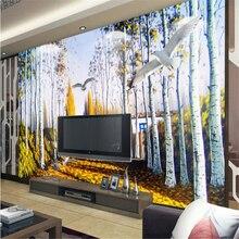 beibehang Personalized custom wallpaper modern aesthetic Poplar 3D 3D