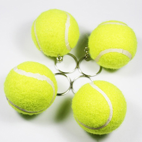 New Arrival Creative Artificial 3D Tennis Ball Pendant Keyring  Lovely Key Chain