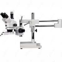 Boom Microscópio Zoom-AmScope Suprimentos 3.5X-45X Boom de Trinocular Stereo Zoom Microscópio + Luz Fluorescente