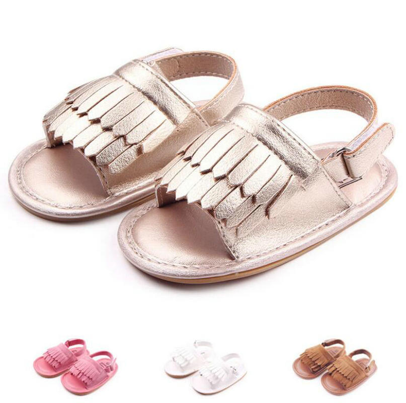 Summer Baby Boy Slipper Tassel Baby Girl Shoes My First Shoes Infant Prewalker Shoes Genuine Leather Baby Slippers
