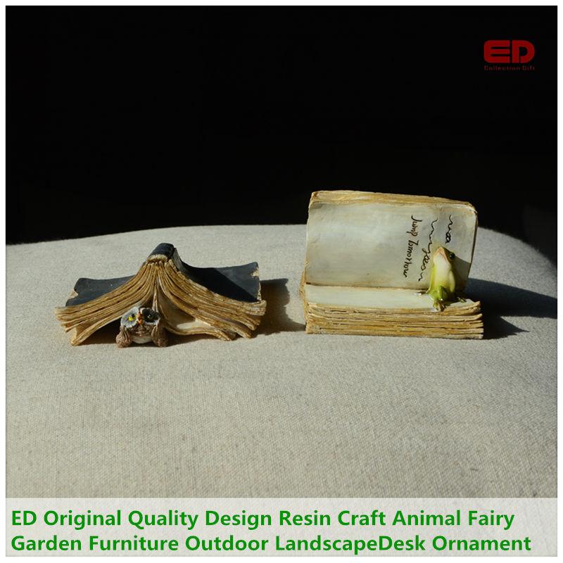 ED Original Quality Design Resin Craft Animal Fairy Garden Furniture Outdoor Landscape Decoration Office Desk Ornament refletor fq led