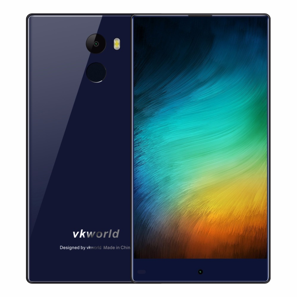 Vkworld Mix 5.5 Inch Bezel-less Display Smartphone Android 7.0 2GB RAM 16GB ROM MTK6737 Quad Core Fingerprint FDD 4G Cellphone