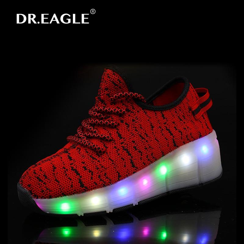 f3db3a6b7ae9 Kids led roller shoes girls light up shoes boys rolling shoe led ...
