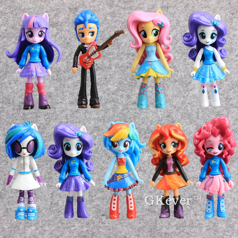 NEW 9pcs/set Twilight Sparkle Rainbow Dash Horses Girl PVC